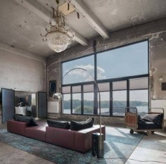 Minimalist Industrial Apartment 33