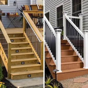 Wood Railing Ideas For Your House Style 27
