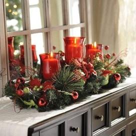 Charming Christmas Candle Decor Ideas 32