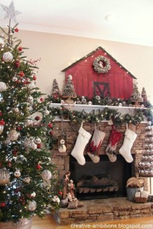 Fascinating Farmhouse Christmas Decor Ideas 44
