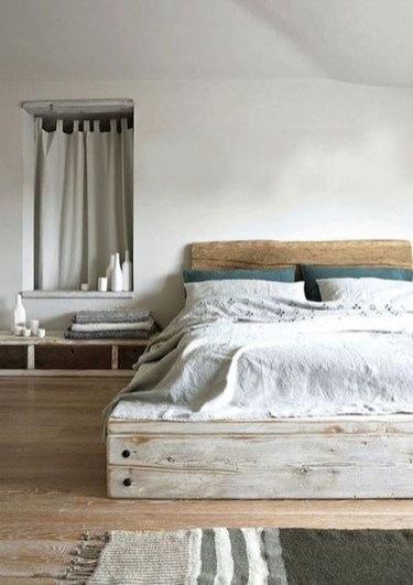 Lovely Diy Wooden Platform Bed Design Ideas 18