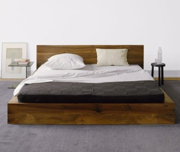Lovely Diy Wooden Platform Bed Design Ideas 27