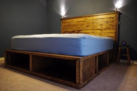 Lovely Diy Wooden Platform Bed Design Ideas 36