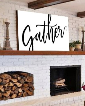 Popular Farmhouse Mantel Decorating Ideas 29