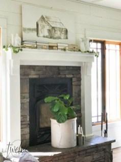Popular Farmhouse Mantel Decorating Ideas 36