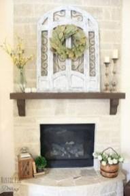 Popular Farmhouse Mantel Decorating Ideas 47