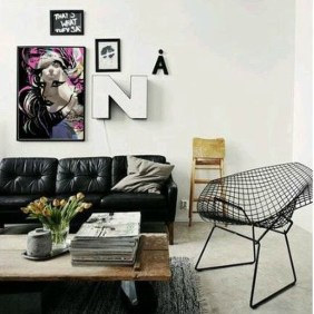 Affordable Apartment Living Room Design Ideas With Black And White Style 04