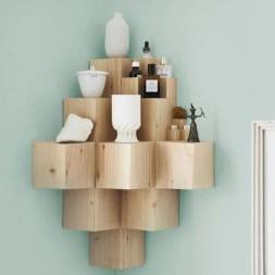 Amazing Corner Shelves Design Ideas 41