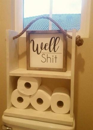 Comfy Farmhouse Wooden Bathroom Design Ideas 07