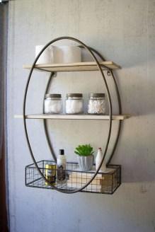 Comfy Farmhouse Wooden Bathroom Design Ideas 35