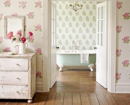 Comfy Farmhouse Wooden Bathroom Design Ideas 51