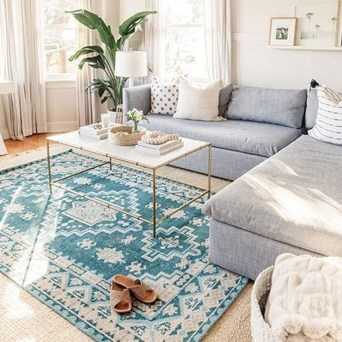 Fascinating Colorful Rug Designs Ideas For Living Room 08