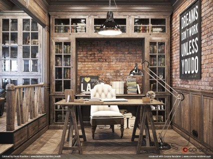 Gorgeous Industrial Table Design Ideas For Home Office 33
