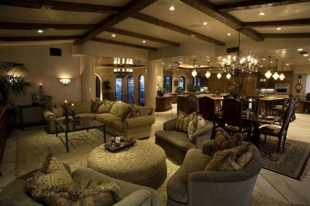 Luxury European Living Room Decor Ideas With Tuscan Style 08
