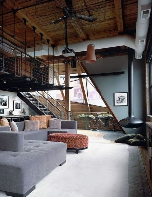 Perfect Industrial Style Loft Designs Ideas For Living Room 08