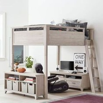 Relaxing Small Loft Bedroom Designs 07