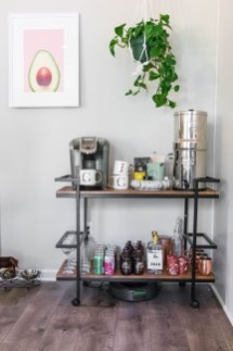 Wonderful Apartment Coffee Bar Cart Ideas 01
