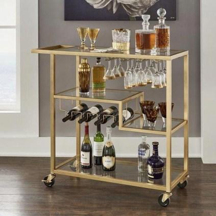 Wonderful Apartment Coffee Bar Cart Ideas 08