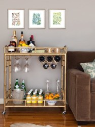 Wonderful Apartment Coffee Bar Cart Ideas 10