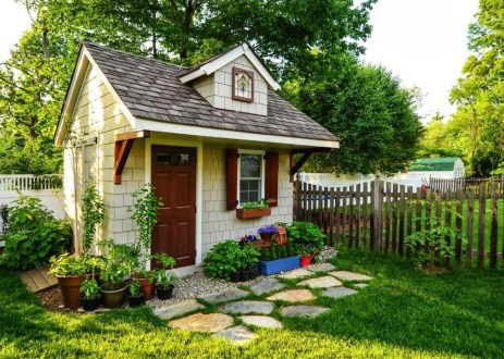 Cool Small Storage Shed Ideas For Garden 06