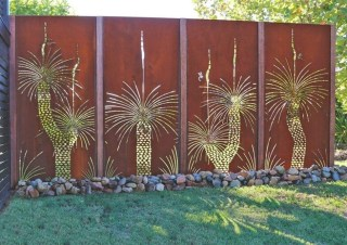 Cute Garden Fences Walls Ideas 48