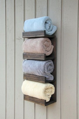 Luxury Towel Storage Ideas For Bathroom 52