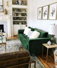 Popular Velvet Sofa Designs Ideas For Living Room 46