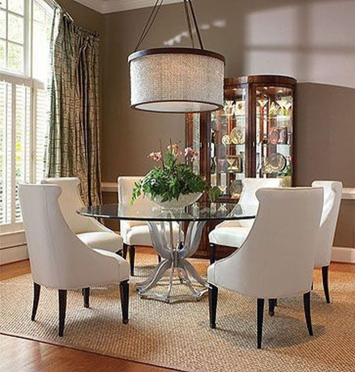 Striking Round Glass Table Designs Ideas For Dining Room 23