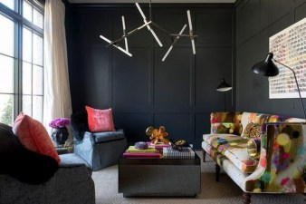 Catchy Living Room Designs Ideas With Bold Black Furniture 35