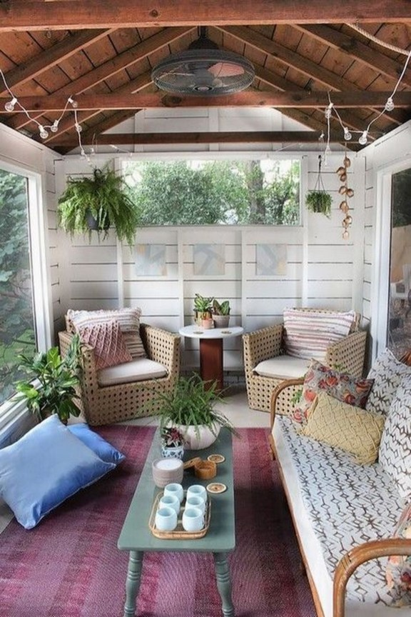 Comfy Porch Design Ideas For Backyard 21