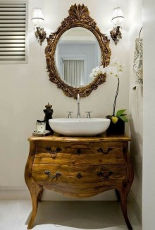 Cozy Small Bathroom Ideas With Wooden Decor 02