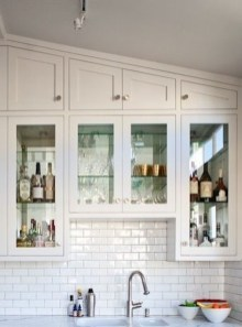 Creative Painted Kitchen Cabinets Design Ideas 11