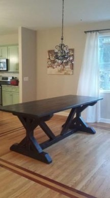 Cute Farmhouse Table Design Ideas Which Is Not Outdated 18