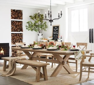 Cute Farmhouse Table Design Ideas Which Is Not Outdated 19