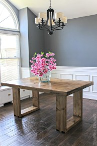 Cute Farmhouse Table Design Ideas Which Is Not Outdated 20