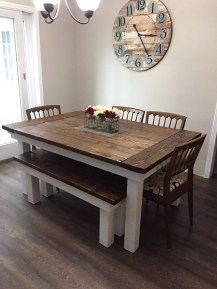 Cute Farmhouse Table Design Ideas Which Is Not Outdated 23
