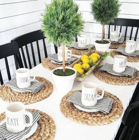 Cute Farmhouse Table Design Ideas Which Is Not Outdated 31