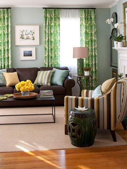 Enchanting Living Rooms Ideas With Combinations Of Grey Green 28