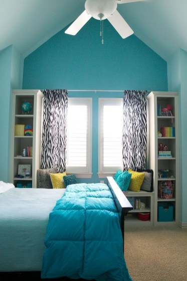 Cute Love Blue Ideas For Teenage Bedroom 07