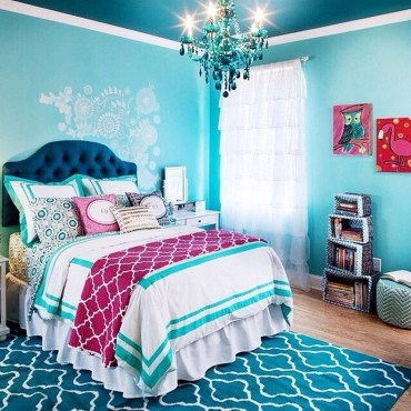 Cute Love Blue Ideas For Teenage Bedroom 18