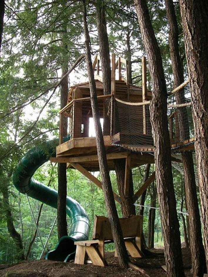 Captivating Treehouse Ideas For Children Playground 06
