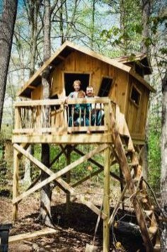 Captivating Treehouse Ideas For Children Playground 30