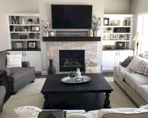 Fancy Farmhouse Living Room Decor Ideas To Try 06