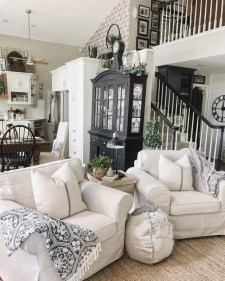 Fancy Farmhouse Living Room Decor Ideas To Try 10