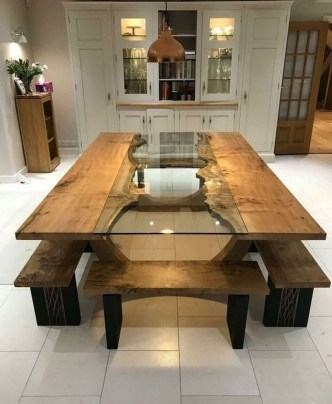 Trendy Dining Table Design Ideas That Looks Amazing 08