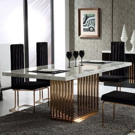 Trendy Dining Table Design Ideas That Looks Amazing 41