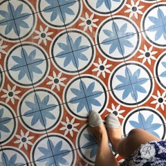 Unusual Diy Painted Tile Floor Ideas With Stencils That Anyone Can Do 05