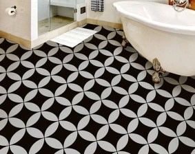 Unusual Diy Painted Tile Floor Ideas With Stencils That Anyone Can Do 12