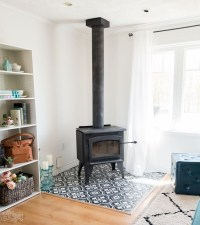 Unusual Diy Painted Tile Floor Ideas With Stencils That Anyone Can Do 14