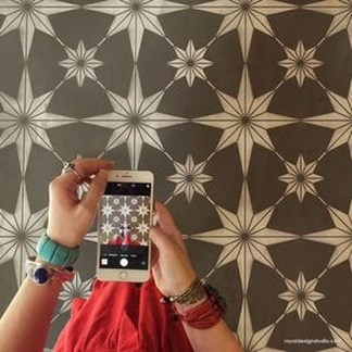 Unusual Diy Painted Tile Floor Ideas With Stencils That Anyone Can Do 18